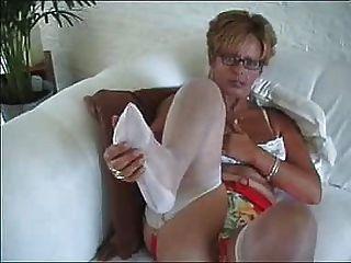 Frau in Strümpfe