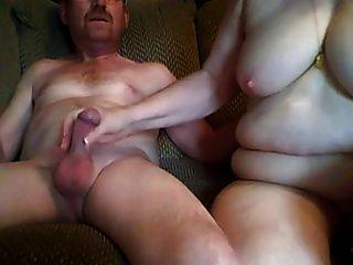 Opa und Oma Sex vor Nocken