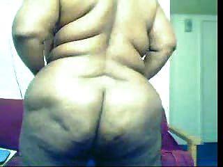 dicke schwarze Frau auf cam