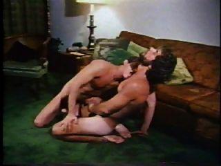 Jahrgang Homosexuell - Jack Wrangler & George payne - marineblau 1975