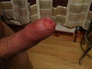 unbeschnittenen Schwanz Ruck und cum