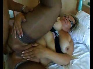 bbw Oma mit großen Titten in harten anal