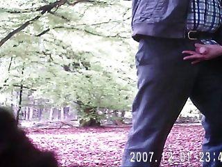 bi - schwanz - geiles wichsen im Wald - Homosexuell