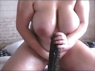 geil gf Fett bbw ex mit großen Titten auf schwarzen Dildo sitzen