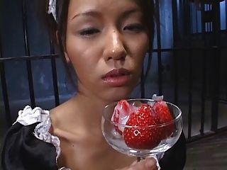 Lebensmittel - japanisches starwberry mit cum