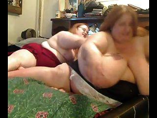 geil Fett fettleibig Lesben spielen miteinander