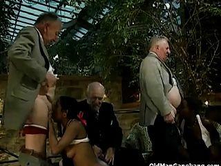 alte weiße Männer ficken schwarze Küken