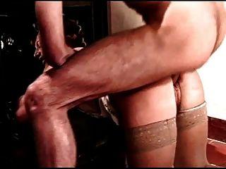 haarige Lockenwickler Milf bekommt von blau Mann anal