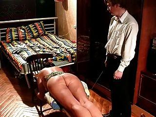 Frau bestraft