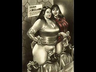 Comic riesige Brust von tlh