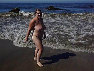 bbw am Strand