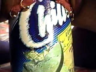 Hocke verdammt ein 28 Unzen Kühler Saftflasche