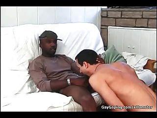 weiß Homosexuell drei schwarze Schwänze und heiße Sperma nehmen