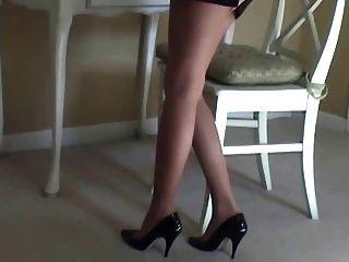 maria sexy Strumpfhosen und High Ferse tease