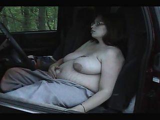 Rauchen Fetisch - mollig schwanger Rauchen