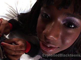 schwarz Teen wird in pov hart gefickt