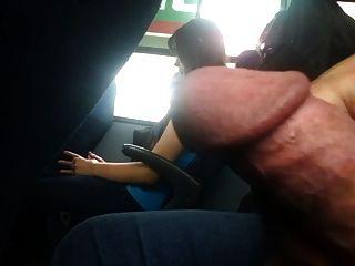 Blinken in den Bus Whit cum gescheitert