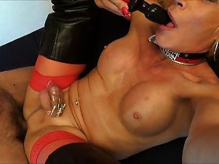 Sissy Slut double anal schlucken encaged