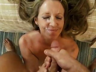 degradierten MILF Facials Compilation