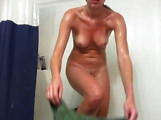 selbst erschossen Dusche Masturbation