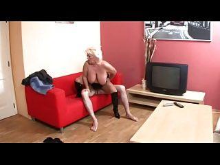 blonde große Hänger bbw-Oma hart gefickt