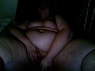 bbw masturbiert und hart auf Computer Stuhl Cumming