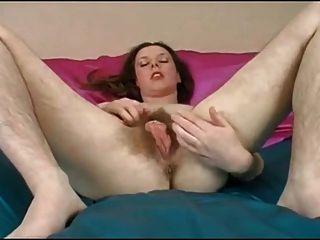 schönes Mädchen schön haarige Pussy