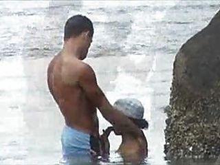 flagra na praia Strand ficken