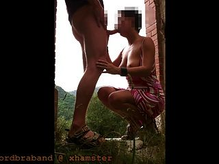 Paare, die auf französisch Camping (le lief du Chabrier) und öffentliche