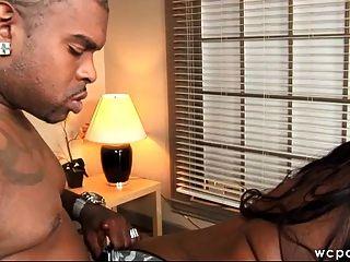große schwarze Beute Büro Sex