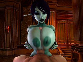 soria gibt einen tittyfuck und wird in cum 3d durchnässt