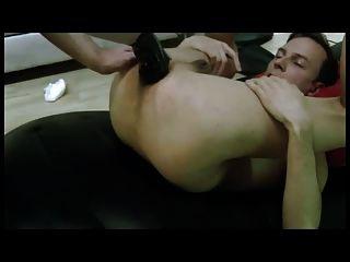 Arschloch extrem klaffende Loch gestanzt und Doppel fisted