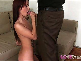 liebe Sahnetorte nette junge Amateur macht Casting Porno beginnen