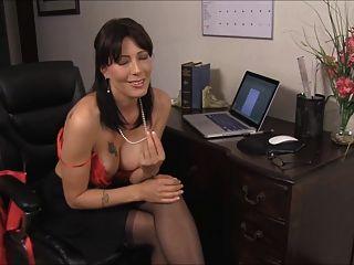 cum auf Lehrer sexy d10 schwarzen Strümpfen