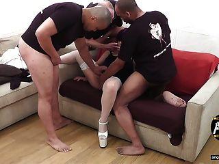 uk Bareback-Gangbang Schlampen Casting Couch