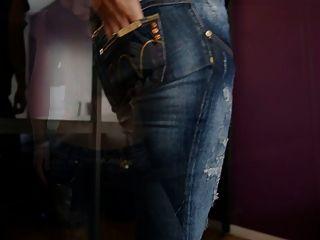 jeansfetish & Nahaufnahmen auf meinem Arsch und Höschen
