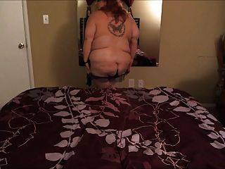Supersize nuttig Milf Striptease