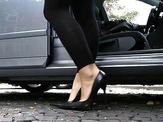 ultimative Leder Fersen Stilettos Schuhe cuir leder 3