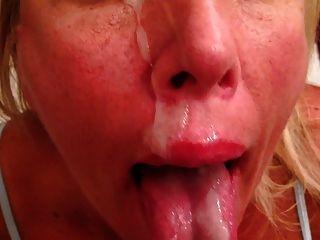 wifey liebt den Geschmack von Sperma