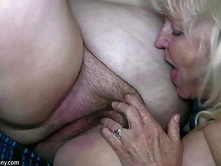oldnanny reifen mit großen Titten mit dicken Oma masturbieren