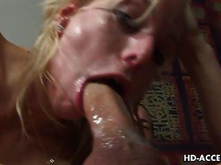 blonde Hure angela Stein Hardcore-Sex mit dünnen langen Schwanz!