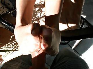 hot blonde tan Schlauch foot