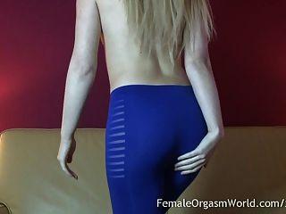 hot portugiesisch blonde Solo Masturbation und Orgasmen