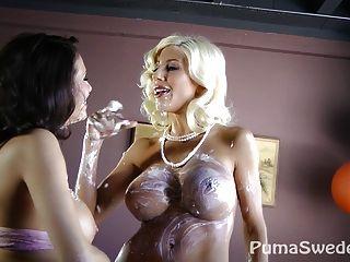 süße Pussy pie ?! Puma Swede & Veronica Avluv!