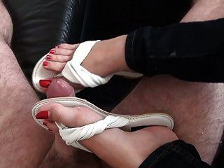 shoejob in Leder Flip-Flops