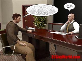 ersten Mal Homosexuell Fick auf Prüfung 3d Homosexuell Cartoon animierte Comics