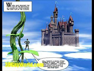 jack & 3dgay Cartoon, Comic Homosexuell berühmte Märchen beanstalk