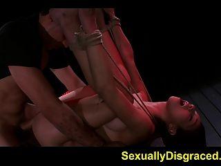 harten Sex für mia hurley während gebunden und hilflos