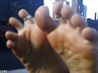 Fußsohlen und Zehen wackeln Kompilation