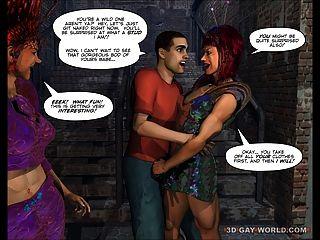 Drag Queens aus dem Weltraum Scifi 3d Homosexuell Toon Anime Comics